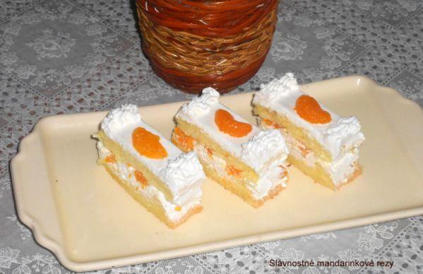 Slávnostné mandarinkové rezy |