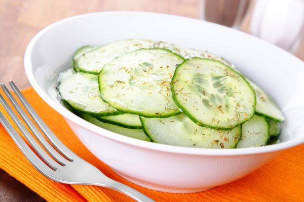 Jednoduchý šalát z uhorky |
