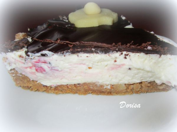 Malinová nepečená torta s marciánom |