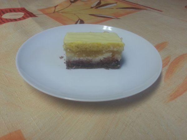 Jablkovo  kokosový koláč |