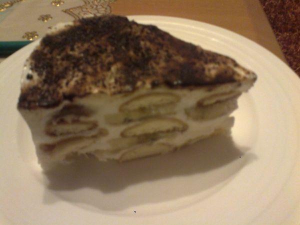 Smotanová torta bananová |