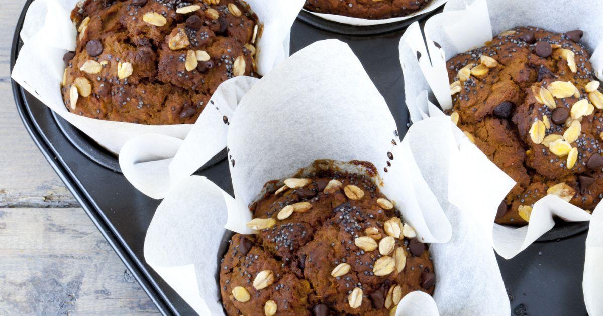 Tekvicové muffiny s čokoládou, fotogaléria 1 / 1.