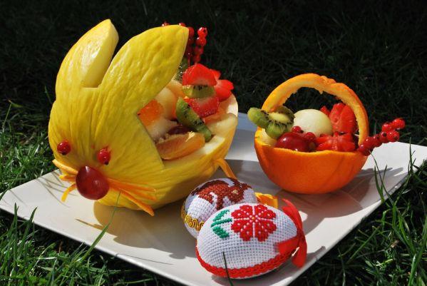 Veľkonočný ovocný košíček |