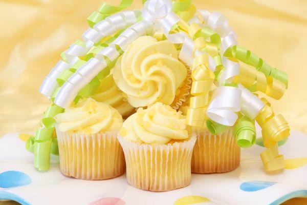 Slnečné citrónové cupcakes |