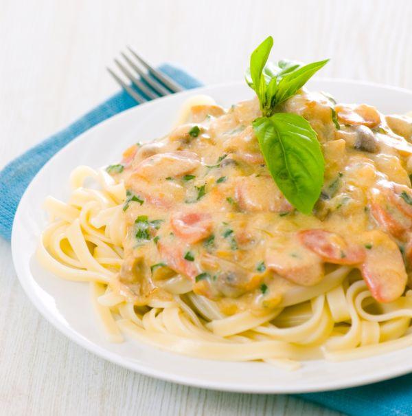 Špagety so šampiňónmi |