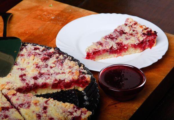 Krehký koláč s ríbezľami |