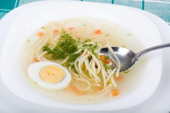 Drobková polievka s vajcom |