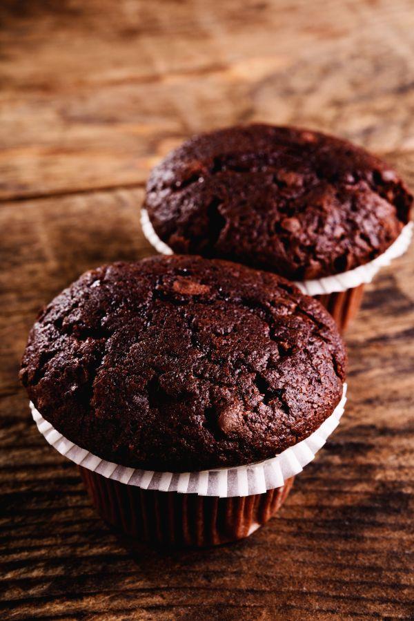 Brownies muffiny s mandľami |
