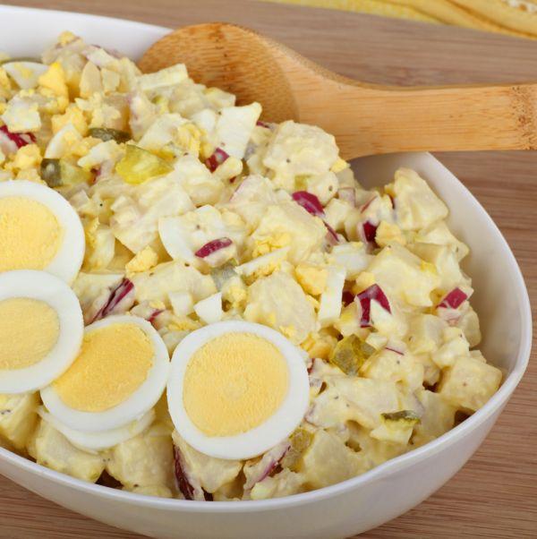 Šalát s vajcom a cibuľou |