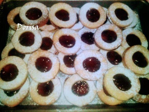 Linecké koláče s marmeládou |