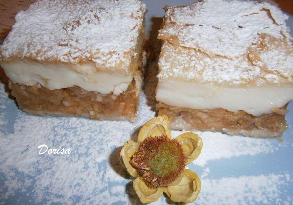 Jablkový koláč s pudingom |