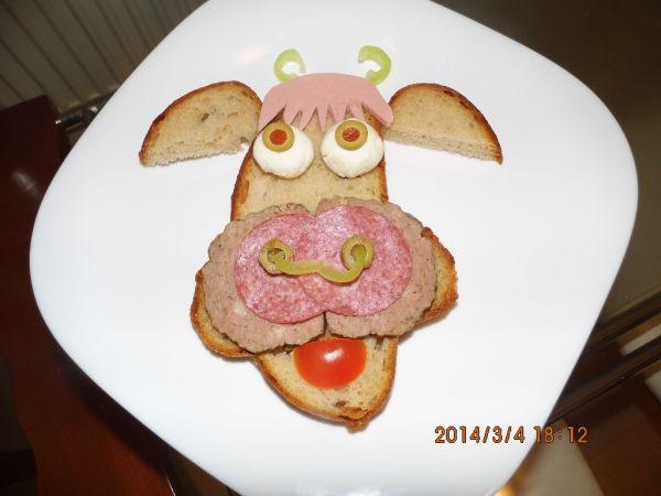 Srandovný chlebík Kravička pre deti |