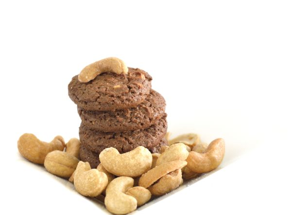 Čokoládové cookies s orieškami kešu |