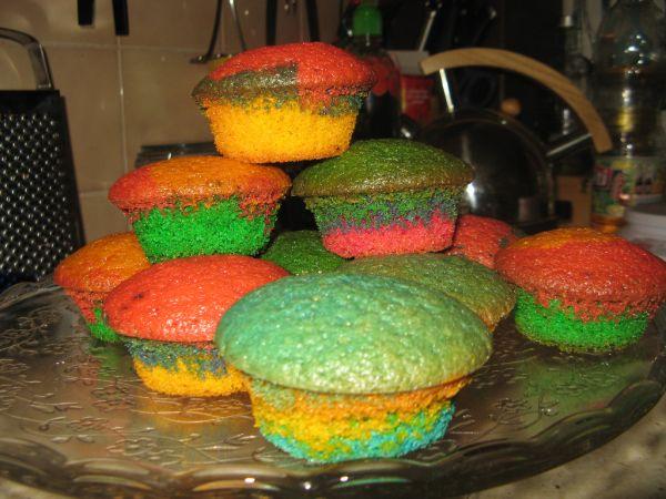 Pestré muffiny |