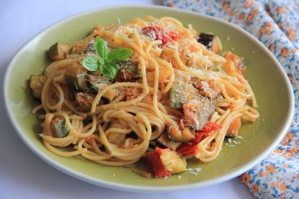 Špagety s ratatouille |