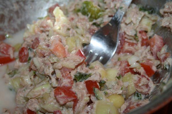 Dietný šalát s tuniakom |