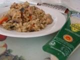 Hubovo-mäsové rizoto