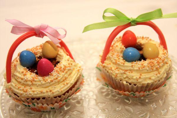 Jogurtové cupcakes s vanilkovou plnkou |