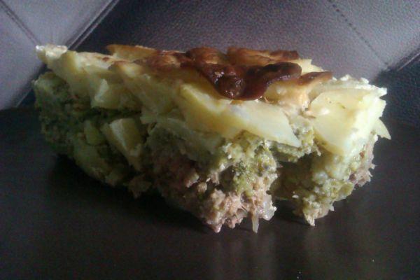 Mleté mäso s brokolicou a zemiakmi |