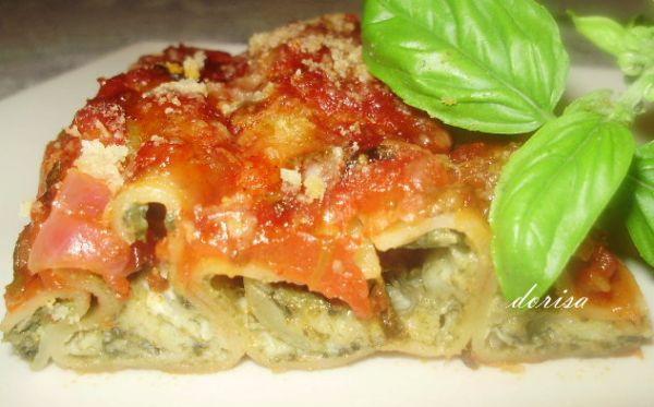 Špenátové cannelloni s ovčím syrom |