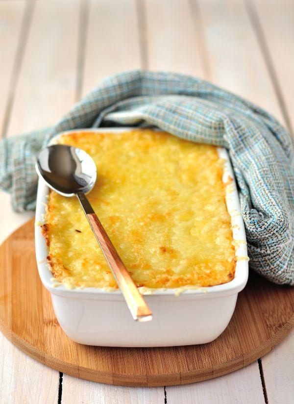 Zemiaky zapečené so syrom a šunkou |