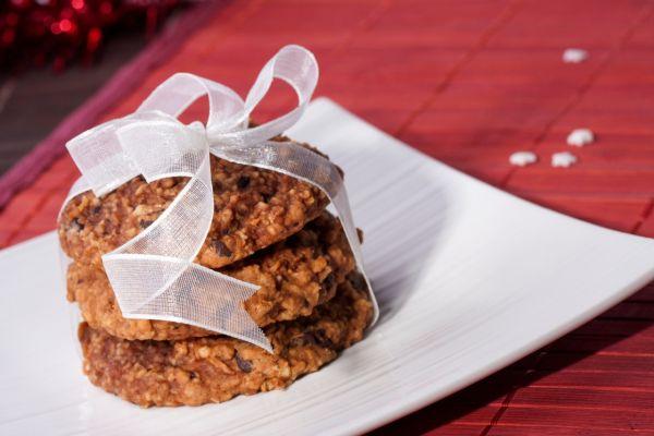 Ovsené sušienky s jablkami a čokoládou |