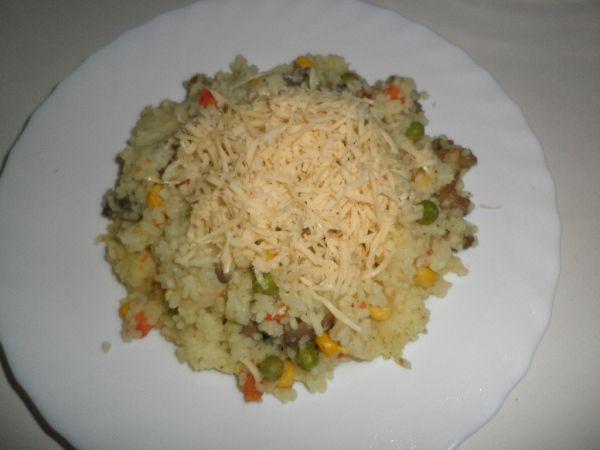 Zeleninové rizoto so syrom |