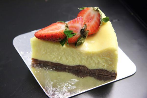 Nepečený koláč s vanilkovým pudingom |
